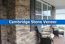 Cambridge Stone Veneer / Cambridge Stone Veneer can be used to update a home's facade, create stunning landscape walls, or on Cambridge's beautiful outdoor living kits. / by Cambridge Pavingstones with ArmorTec