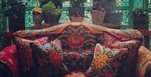 Design & Decor: Bohemian/Moroccan Style / The elegance, sophistication and mystery of Morocco and India and the free-flowing beauty of the Bohemian aesthetic.