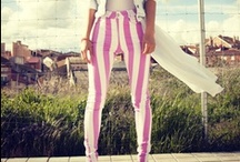 Striped Pants Freak ♥ / They look fabulous and add a touch of edginess. Not lacking in my closet!