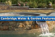 Cambridge Water & Garden Features / Create a stunning garden or backyard area with soothing water features or lovely garden features from Cambridge Pavingstones with Armortec. / by Cambridge Pavingstones with ArmorTec
