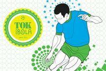TOKdeBOLA® / A estampa da Coleção TOKdeBOLA® de Glauco Diogenes apresenta o Futebol Gráfico e Múltiplo: a raça, a categoria no domínio de bola, o passe preciso, as jogadas acrobáticas, o goleiro que desafia as leis da gravidade, a vibração da vitória. http://goo.gl/xlxCML