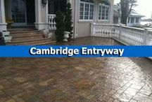 Cambridge Entryway / Create a stunning entryway using pavingstones, steps, and finishing touches from Cambridge Pavingstones with Armortec! / by Cambridge Pavingstones with ArmorTec