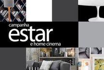 Estar e Home Cinema 2015 / Chegou a hora de renovar o visual para receber visitas e ter ainda mais conforto na hora de assistir um filme.http://goo.gl/hlRkDy