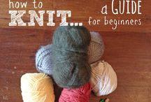 Knitting, Crochet & Cross stitch / Learning how!