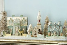 Christmas! glitter/putz houses & bottle brush trees / by Dawn Young