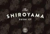 MY WORK — THE SHIROYAMA SUSHI CO. / Art direction / design / identity work for The Shiroyama Sushi Co.