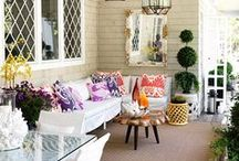 Decor - A Good First Impression / Generally exterior architectural elements and outdoor spaces and furniture... foilage and garden items should be in the gardening board