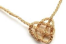 Knots / I Love #knotting just as much as I love #knitting , my favorite is the #Celtic #heart #knot #necklace