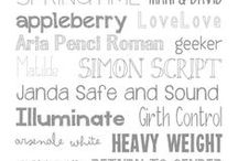 FONTS / Favorite Fonts