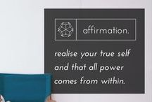 affirmation. / Affirmations are great for helping to empower your growth, goals and dreams. A good use of Affirmations and a strong internal belief system are key factors in happiness and success. The board is designed using the best quotes around the world.