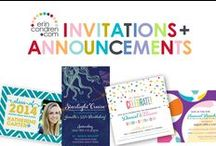invitations + announcements / Maybe you are planning a celebration? Let us help make it come to life! Our talented designers are ready and waiting to help you throw the party of the year!   / by erin condren