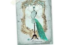mannequin postcards / lovely inspiring postcards of antique mannequins in old days