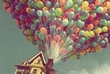 Balloons / I'm not sure I would ever ride in a hot air balloon, but they are pretty.