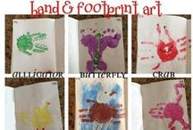 Hand/foot print crafts
