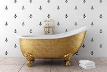 golden black bath