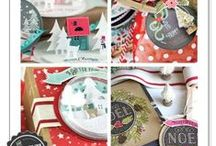 Make It Market: Tinsel & Tags Kit / Mood and idea board for the Make It Market: Tinsel & Tags kit available from www.papertreyink.com