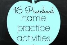 Name writing & recognition activities