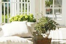 Outdoor Spaces / Outdoor decor, small patios, outdoor furniture, outdoor decorations