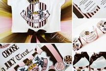 """Juicy Couture Inspired Party/Celebration / Eccentric Designs by: Latisha Horton Juicy Couture """"inspired"""" party theme is sure to bring a smile to your little one(s) face. This full color/high-resolution digital party has you covered from A to Z! Items available for this theme include: Invitation   Thank You Note   Cupcake Wrappers   Cupcake Toppers   Placecards   Popcorn Box/Snack Box   Favor Bag Stickers/Labels   Water Bottle Labels   Hershey Bar Wrappers For Additional Inquiries: eccentricdesignstudio@live.com"""
