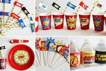 Superhero Inspired Party / Eccentric Designs by: Latisha Horton Superhero party theme is sure to bring a smile to your little one(s) face. This full color/high-resolution digital party has you covered from A to Z! Items available for this theme include: Invitation   Thank You Note   Cupcake Wrappers   Cupcake Toppers   Placecards   Popcorn Box/Snack Box   Favor Bag Stickers/Labels   Water Bottle Labels   Hershey Bar Wrappers For Additional Inquiries: eccentricdesignstudio@live.com
