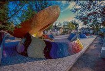 Mexican style mosaic / Mexican style mosaic, Organic architecture, Javier Senosiain #organicarchitecture #organic #architecture #Senosiain #México #Landscape #casaorganica #architecture #organicarchitecture #cdmx #méxico