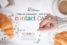 Contact Cards / Make a stylish statement with stunning and totally unique contact cards! Double-sided printing on 130 lb matte paper makes for a luxurious finish that's sure to leave a lasting impression. / by erin condren
