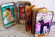 Art ~ Altered Tins / Creating with empty Altoid tins...or any empty tin.