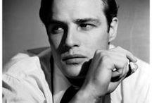 """Marlon Brando / """"A movie star is a man sitting a sugar throne in the pouring rain""""                                 Marlon Brando"""