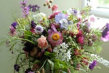 {Wedding} Flowers / Wedding bouquets full of seasonal blooms, natural styles, for that 'just picked' look, and bursting with unusual elements such as grasses, ferns, fruits and herbs / by The Natural Wedding Company