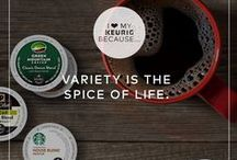 Variety is the Spice of Life / With over 400 varieties of coffee, tea, hot cocoa, and iced beverages from over 60 different brands, there's a favorite for everyone! / by Keurig