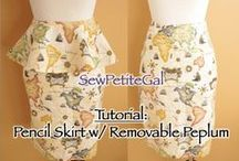 Tutorials - Dresses & Skirts / #diy sewing tutorials for dresses and skirts from sewpetitegal.blogspot.com / by Sew Petite Gal