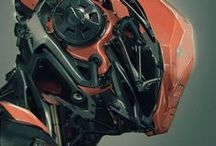 Mech Illustrations / Gorgeous illustrations depicting mecha, futuristic robots and mechanical concept design