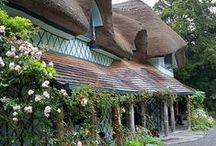 Chocolate Box Cottage / Who doesn't dream of living in one of these beautiful homes but truth be told, I couldn't handle the low ceilings and tiny kitchens so the next best thing is to look at them on Pinterest. Gotta love Imagination ;)