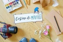 My creations - Cestino di mirtilli / Handmade and graphics with love