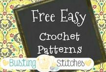 Free Easy Crochet Patterns / If you would like to be added to the board email me at latenighthookin@gmail.com. Do not post more than 7 pins at a time.  Also make sure you are not pinning the same pin several times in a row. I understand that alternate colors may appeal to different followers by all means pin them, but please do not pin several images of the same item eg. front, back, side, in the dark, with a tree. Please follow these rules or you will be released... into the wild... to fend for your self. Happy Pinning! :) / by Stacey Williams {Busting Stitches}