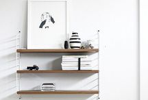 Shelves + hooks