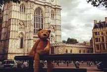 The adventures of Walt the Tidy Books Bear / Our mascot and favorite teddy bear will take pleasure in showing you some great places in London and our childrens' furniture