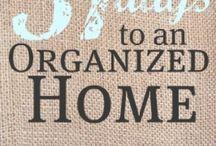 Home organization / Ways to help keep me organized  / by Margot Hamm