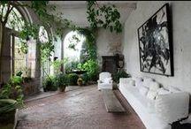 { interior; lots of greenery }