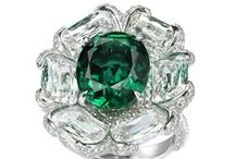 Emeralds / Emeralds- whether they're Brazilian, Columbian or African, that deep, striking green is simply hypnotizing. I would cover myself in Emeralds from head to toe if I could afford it! :)