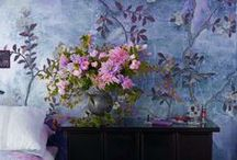 Style Story : Floral Fantasy / Floral furniture, wallpaper, carpeting and more. #flowers #decor
