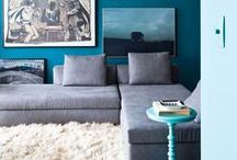 Color Story : Singing The Blues / Blue hued interiors and pieces #blue #decor