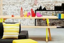 Color Story : Neon Nests / Interior designs and furniture with a splash of #neon. #Furniture #Interior