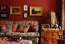 Color Story : Red Hot / Red rooms! #Red #Decor