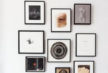 Gallery Wall Ideas / TONS of lovely ideas for wall displays from some very creative people... Pinning's fun, but when you're ready to get it DONE, I hope you'll check out EasyGallery® instant/changeable frames. It's the fastest, easiest way to frame, display (and store) your photos and art prints. (easy-gallery.com)