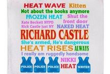 CASTLE TV designs / CASTLE, the TV show. Richard Castle and Kate Beckett are hilarious and entertaining. He, a Mystery Writer, and her, a Cop.   See my CASTLE designs in my shop.  Love this show. http://www.cafepress.com/thetshirtpainter