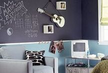 For Isabella / Room Ideas and inspiration for 12 year old girl who loves bold colors, blackboard paint, quotes and ringette.