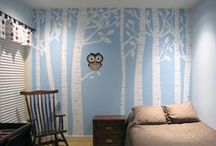 Owl & Bird Themed Room / Owl and bird wall decor for girls rooms. Decorate your space with modern design and function.  Great accessories for small spaces.