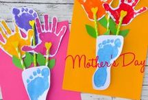 Make for Moms or Grandmas / Mother's Day crafts and activities, Grandparent's Day crafts, Handmade gift ideas from kids to make for moms and grandmas, handprint keepsakes, poems, cards ideas, and more!