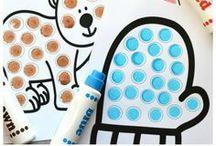 ❊ Snow Adorable Winter Crafts / snowman, penguins, & polar bears oh my! All things winter-y! Winter-themed handprint, footprint, & fingerprint art